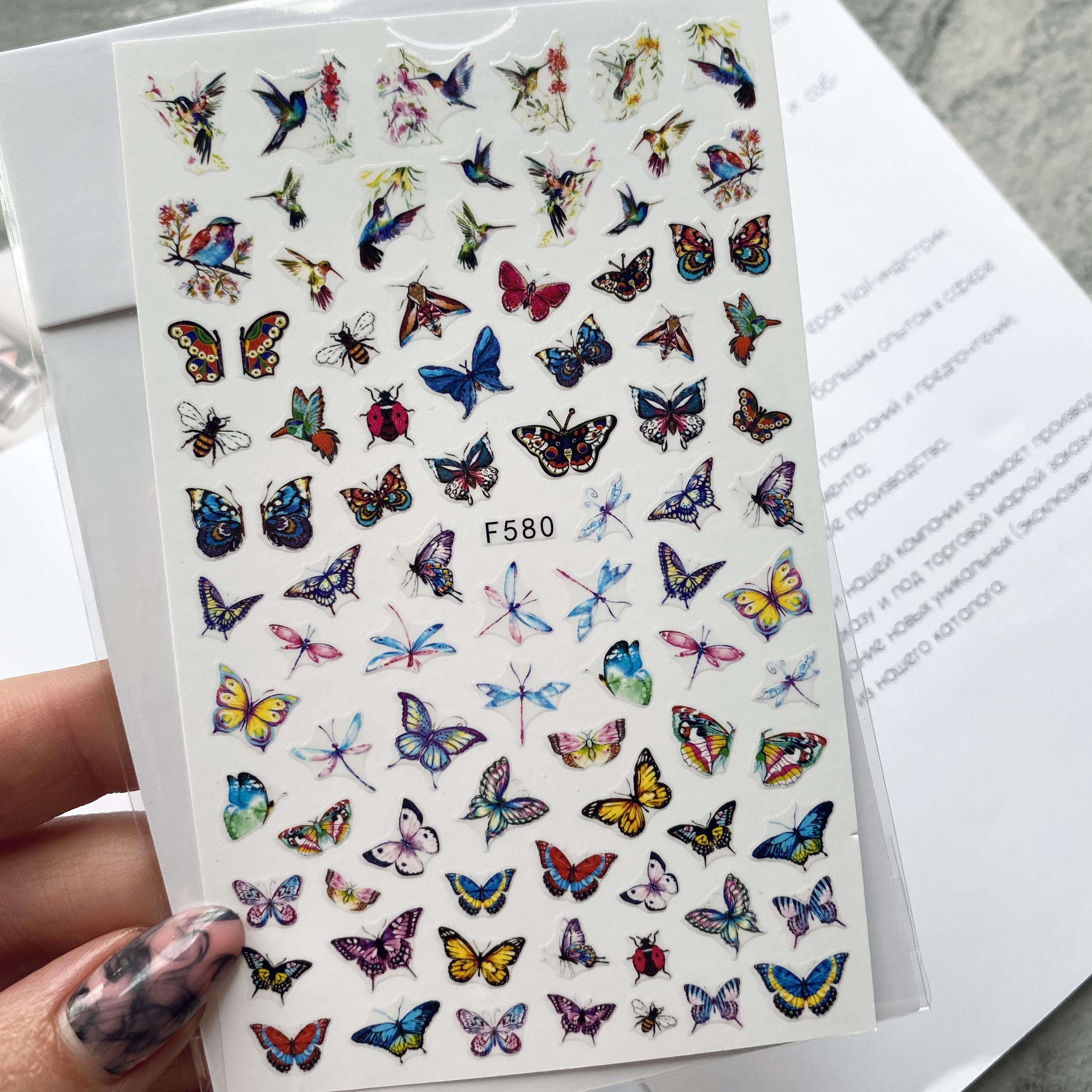 Наклейки для дизайна F 580 бабочки