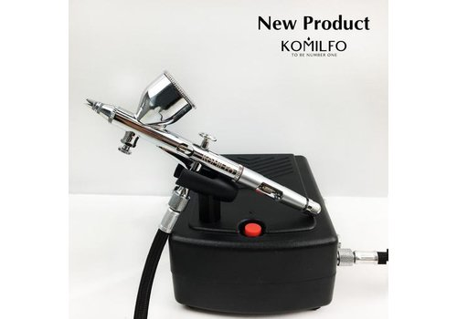 Комплект аэрограф и компрессор Komilfo AR-001/AC-001
