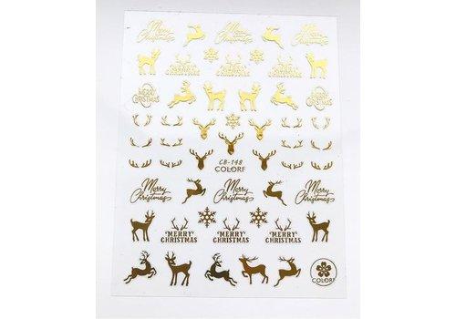 Наклейка для ногтей CB 148 gold