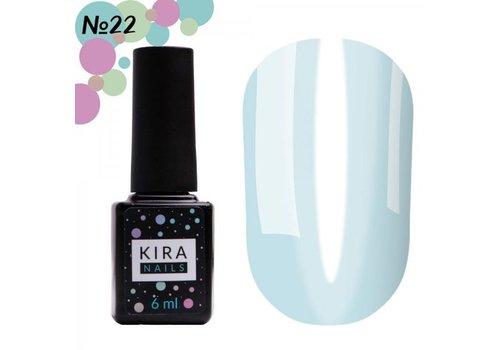 Гель-лак Kira Nails Vitrage №22 нежно-голубой 6 мл