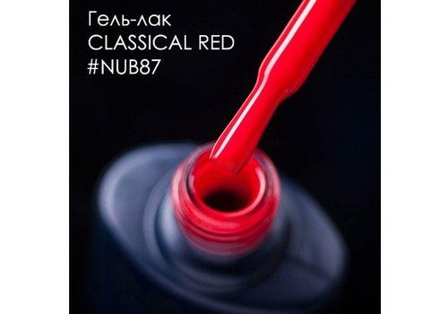 Гель-лак для ногтей NUB № 087 CLASSICAL RED классический красный эмаль 8 мл