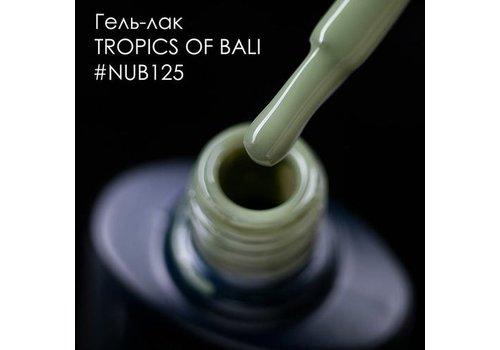 Гель-лак NUB № 125 Tropics Of Bali (бледно-зеленый, эмаль) 8 мл