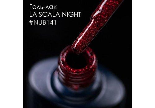 Гель-лак NUB № 141 La Scala Night красно-бордовый с Шимер 8 мл