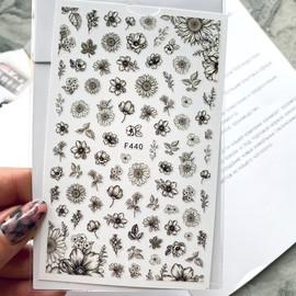 Наклейки для дизайна F 440 цветы