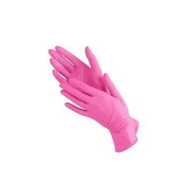 Перчатки нитриловые Polix PRO & MED, размер М ярко розовые, 100 шт