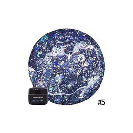 Гель для дизайна NUB Shimmer Gel 05 изумрудные голографические блестки, 5 г