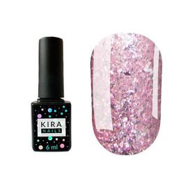 Гель-лак Kira Nails Shine Bright №008 (розовый с блестками), 6 мл