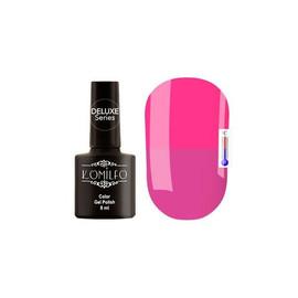 Гель-лак Komilfo DeLuxe Termo №C010 (сиренево-розовый, при нагревании - розовый), 8 мл