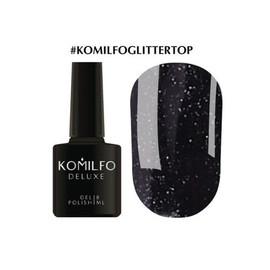 Гель-лак Komilfo Glitter Top  закрепитель для гель-лака с глиттером 8 мл