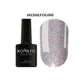 Гель-лак Komilfo DeLuxe Series №G008 серебристый с голографическими блесточками 8 мл