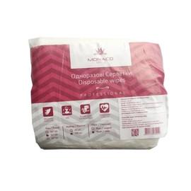 Салфетки Monaco Style 25х30 см нарезные сетка 100 шт белые