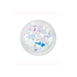 Komilfo диско дизайн №021 сердца, прозрачные, с серебристо-голубым отливом, 3 мм, 1 г