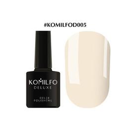 Гель-лак Komilfo Deluxe Series №D005 светлый кремово-розовый эмаль 8 мл