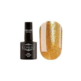 Гель-лак Komilfo DeLuxe Series №G009 (яркое золото, насыщенный микроблеск), 8 мл