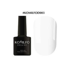 Гель-лак Komilfo Deluxe Series №D003 белый эмаль 8 мл
