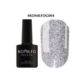 Гель-лак Komilfo DeLuxe Series №G004 темное серебро с блестками 8 мл