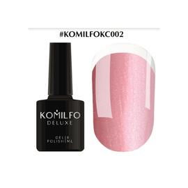 Komilfo KC Glitter Rubber French Base №KC002 светло-розовый с серебряным микроблеском 8 мл