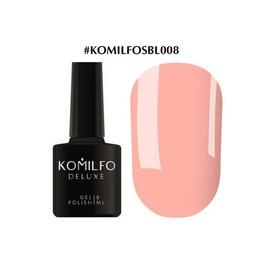 Гель-лак Komilfo Deluxe Series №SBL008 светло-персиковый эмаль 8 мл
