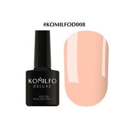 Гель-лак Komilfo Deluxe Series №D008 приглушенный чуть бежево-розовый эмаль 8 мл