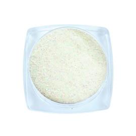 Komilfo блесточки 030 размер 0,1 мм, белые, салатовый перелив, 2,5 г