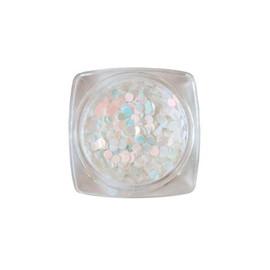 Komilfo диско дизайн № 041, белые, голограмма, розовый перелив, 2 мм, 1 г