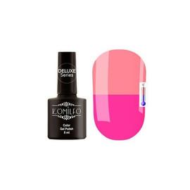 Гель-лак Komilfo DeLuxe Termo №C013 (ярко-розовый, при нагревании - приглушенный персиково-розовый