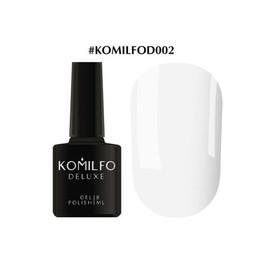 Гель-лак Komilfo Deluxe Series №D002 белый фарфоровый эмаль 8 мл