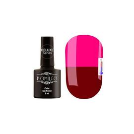 Гель-лак Komilfo DeLuxe Termo №C006 (темно-вишневый, при нагревании - ярко-розовый), 8 мл
