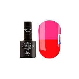 Гель-лак Komilfo DeLuxe Termo №C020 (яркий красный, при нагревании - яркий розовый), 8 мл