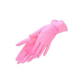 Перчатки нитриловые розовые UNEX размер XS 100 шт