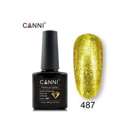 Гель-лак Canni Жидкая фольга №487 желтый 7.3 мл