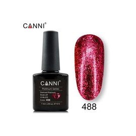 Гель-лак Canni Жидкая фольга №488 темный красный 7.3 мл