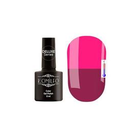 Гель-лак Komilfo DeLuxe Termo №C007 (баклажанный, при нагревании - приглушенный, темно-розовый), 8 м