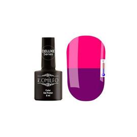 Гель-лак Komilfo DeLuxe Termo №C009 (яркий фиолетовый, при нагревании - яркий розовый), 8 мл