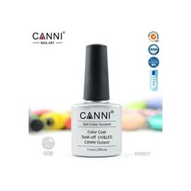 Гель-лак Canni №008 серебристый металлик 7.3 мл