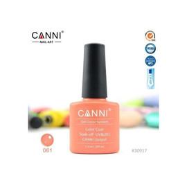 Гель-лак Canni №061 темно-коралловый 7.3 мл