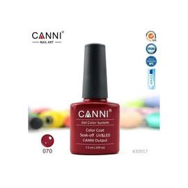 Гель-лак Canni №070 насыщенный пурпурно-красный 7.3 мл