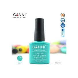 Гель-лак Canni №077 изумрудный 7.3 мл
