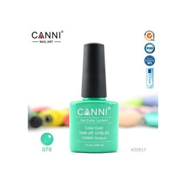 Гель-лак Canni №078 светло-изумрудный 7.3 мл