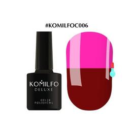 Гель-лак Komilfo DeLuxe Termo №C006 темно-вишневый при нагревании ярко-розовый 8 мл