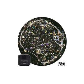 Гель для дизайна NUB Shimmer Gel 06 черные голографические блестки 5 г