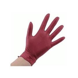 Перчатки нитриловые STYLE бордовые размер S 100 шт