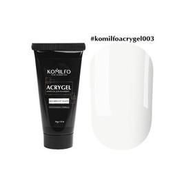 Акрил гель Acryl Gel Komilfo №003  Bright White яркий белый 30 г