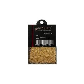 Бульонки для ногтей Starlet Professional 100 шт металлические розовое золото
