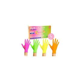 Перчатки нитриловые Tutti Frutti размер S разноцветные 96 шт