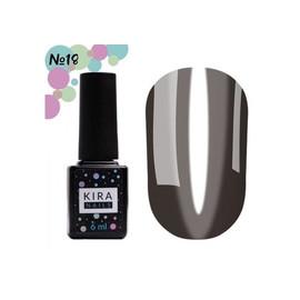 Гель-лак Kira Nails Vitrage №18 черный 6 мл