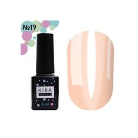 Гель-лак Kira Nails Vitrage №19 персиковый 6 мл