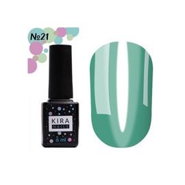 Гель-лак Kira Nails Vitrage №21 морская волна 6 мл