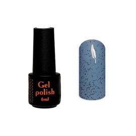 Гель-лак NailApex Крошка №248 синий с черными крошками 6 мл