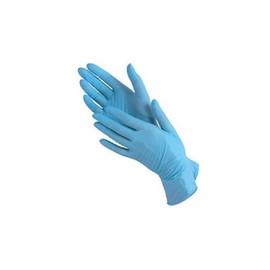 Перчатки нитриловые SF Medical Products размер L голубые blue 100 шт